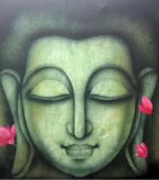 Religious Acrylic Art Painting title Buddha 3 by artist Pradeesh K