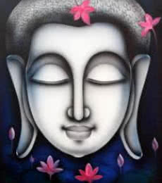 Religious Acrylic Art Painting title 'Buddha 4' by artist Pradeesh K