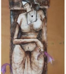 Manoj Muneshwar | Oil Painting title The Woman Figure on Canvas | Artist Manoj Muneshwar Gallery | ArtZolo.com