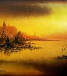 Landscape Acrylic Art Painting title 'Untitled' by artist Soumen Saha