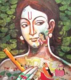 Radha All Around | Painting by artist Pradeep Swain | acrylic | Canvas
