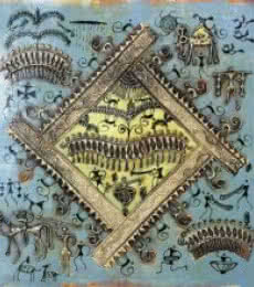 Warli Art 4 | Painting by artist Pradeep Swain | other | Canvas