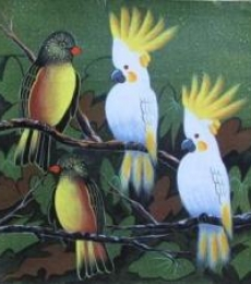 Animals Acrylic Art Painting title 'Birds 4' by artist Pradeep Swain