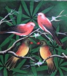 Animals Acrylic Art Painting title 'Birds 5' by artist Pradeep Swain