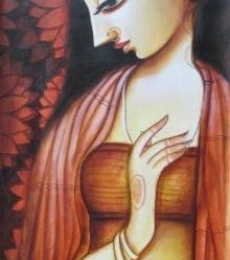 Pradeep Swain | Acrylic Painting title Meera on Canvas | Artist Pradeep Swain Gallery | ArtZolo.com