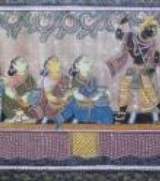 God Tasar Cloth Painting Ii   Painting by artist Pradeep Swain   other   Fabric