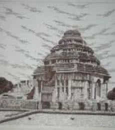 Konark - 01 | Drawing by artist Pradeep Swain | | pen | Paper