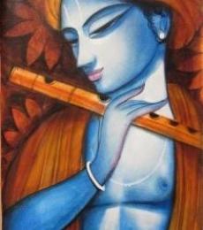 Krishna | Painting by artist Pradeep Swain | acrylic | Canvas