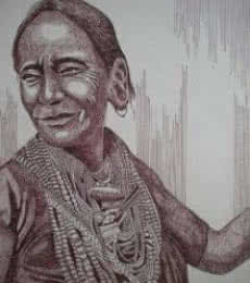 Tribal Lady 1 | Drawing by artist Pradeep Swain |  | pen | Paper