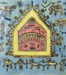 Warli Art 5 | Painting by artist Pradeep Swain | other | Canvas