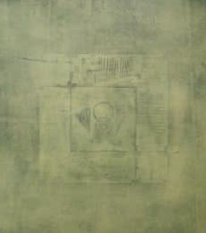 Mohit Bhatia | Acrylic Painting title Solid Green Abstract I on Canvas | Artist Mohit Bhatia Gallery | ArtZolo.com