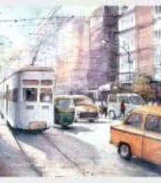 Kolkata   Painting by artist Amit Kapoor   watercolor   Handmade Paper