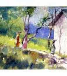 Village Women | Painting by artist Amit Kapoor | watercolor | Handmade Paper