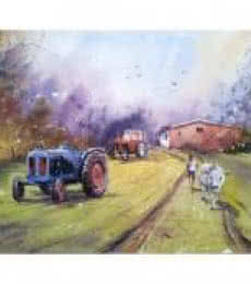 Tractor | Painting by artist Amit Kapoor | watercolor | Handmade Paper
