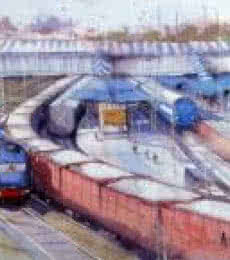 Kanpur Station | Painting by artist Amit Kapoor | watercolor | Paper