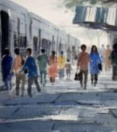 Life Journey | Painting by artist Jiaur Rahman | watercolor | Paper