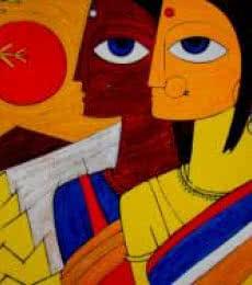 Tribal Women | Painting by artist Jiaur Rahman | acrylic | Canvas