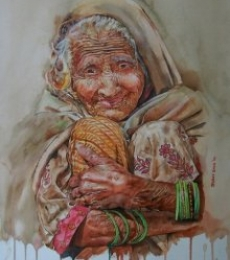Undefined Cuteness | Painting by artist Dr.uday Bhan | watercolor | UNDEFINED CUTENESS