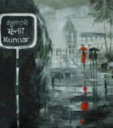 Scenic Acrylic Art Painting title 'Rain In Munnar' by artist Mopasang Valath