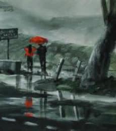 Enjoying The Rain   Painting by artist Mopasang Valath   acrylic   Canvas