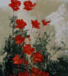 Flowers  1 | Painting by artist Mopasang Valath | acrylic | Canvas