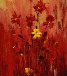 Nature Acrylic Art Painting title 'Flowers 4' by artist Mopasang Valath