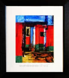 Abstract Acrylic Art Painting title 'Untitled 21' by artist AnndBedrala Bangalore