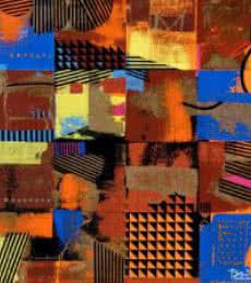 Urban Scape I   Painting by artist Prabhinder Lall   acrylic   Canvas