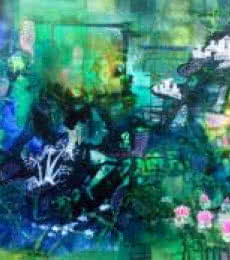 Glorious Greens | Painting by artist Shuchi Khanna | mixed-media | Canvas