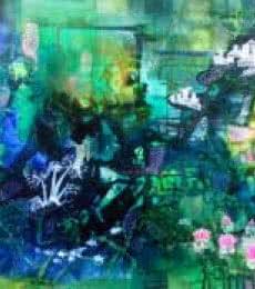 Glorious Greens | Painting by artist Shuchi Khanna | mixed-media | Canvas