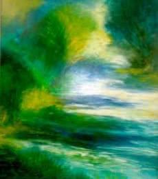 Peacock Bliss,   Painting by artist Shuchi Khanna   acrylic   Canvas