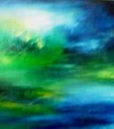 MISTY BLUE | Painting by artist Shuchi Khanna | acrylic | Canvas