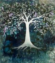 Blue Tree | Painting by artist Shuchi Khanna | mixed-media | Canvas