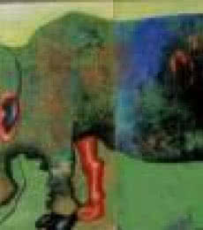Fantasy Acrylic Art Painting title 'Hybrid' by artist Mithun Dasgupta