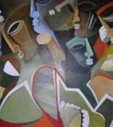 Multiples Faces VI   Painting by artist Kapil Kumar   acrylic   Canvas