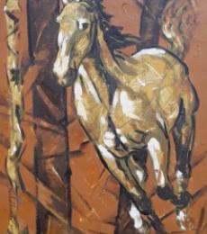 Animals Acrylic Art Painting title Untitled 74 by artist Santoshkumar Patil
