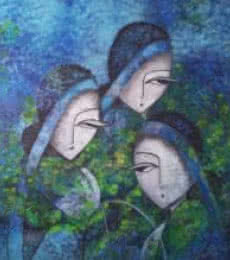 Tea tulips | Painting by artist Sarang Singla | acrylic | Canvas