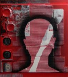Scarlet Tides Duality Of Grey -II | Mixed_media by artist Vivek Rao | wood and acrylic
