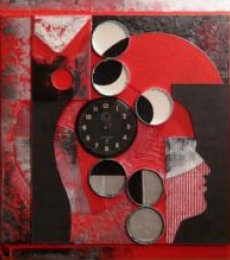 Scarlet Tides Duality Of Grey-XIII | Mixed_media by artist Vivek Rao | wood and acrylic