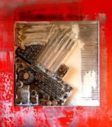 Vivek Rao | Decorative Assemblages IV Mixed media by artist Vivek Rao on wood | ArtZolo.com