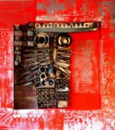 Vivek Rao | Decorative Assemblages III Mixed media by artist Vivek Rao on wood | ArtZolo.com