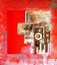 Vivek Rao | Decorative Assemblages II Mixed media by artist Vivek Rao on wood | ArtZolo.com