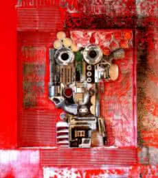 Vivek Rao | Decorative Assemblages VI Mixed media by artist Vivek Rao on wood | ArtZolo.com