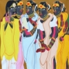 Figurative Acrylic Art Painting title 'Untitled' by artist Thota Vaikuntam