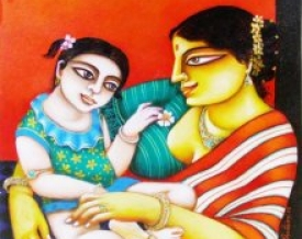 art,painting,kalighat,kolkata,traditional,gautam,mukherjii,canvas,original