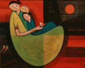 art,painting,motherhood,love,child,mother