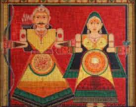 Raja Rani | Painting by artist Satish Chavhan | Acrylic | Canvas Board