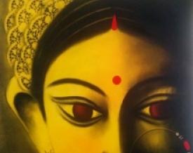 Devi 34 | Painting by artist Uttara Joshi | mixed-media | Canvas