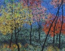 art,painting,nature,landscape,trees,colorful,sanjay,devsale,indian