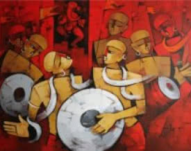 art,painting,figurative,modern,contemporary,indian,deepa,vedpathak